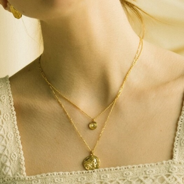 Daphne#[Daphne(다프네)] Bernini daphne coin necklace_MX9XX0760