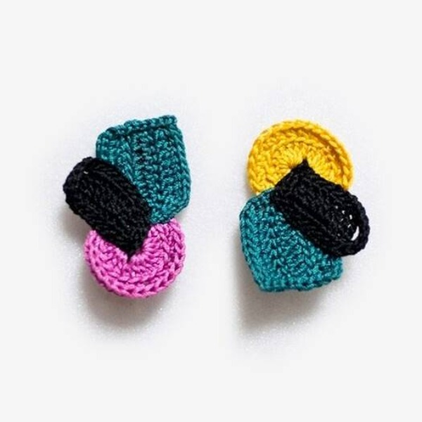 MERRYMOTIVE#[MERRYMOTIVE] Pleasant structure knit earring_MX9XX0110